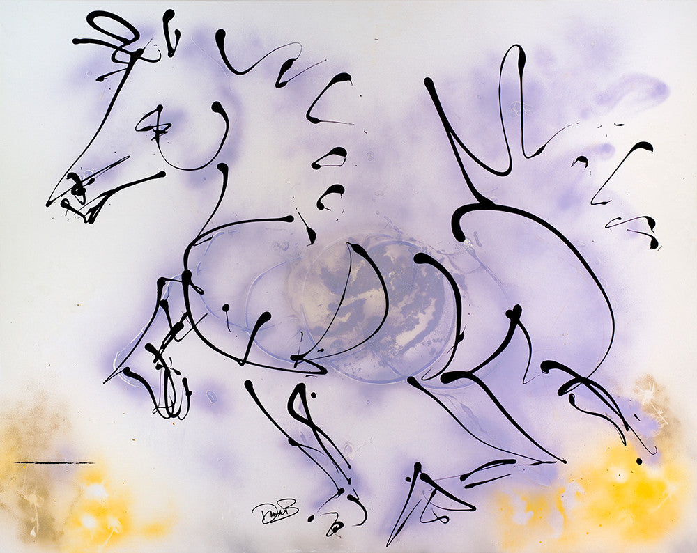 colorful abstract horse painting, movement fun and horse energy, stylized interior designer art for home or office, wall decor, equines, horses, equestrians, running horses, horseback riding
