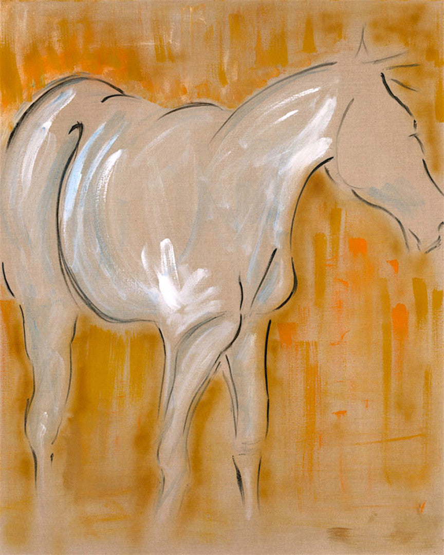 horse painting, horses in situ, horses watching, horse dynamic, equestrian arts, large horse art, horse grazing, pastoral scene, equestrian horses in the field, modern horse art, contemporary horse art, minimal horse art, ink and acrylics, painting on raw linen, mixed media horse art, abstract horse painting, unique original art, textured art, wall decor, epstein chic, ancient horses, eohippus, cave art, cave wall art, cave style, acrylics art, modern style horse, contemporary art