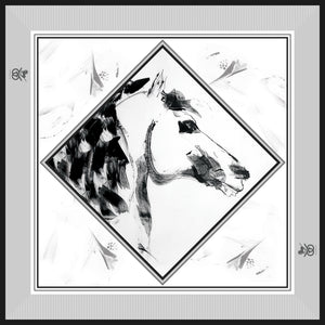 Equestrian Silk Scarf - Checkmate Mini