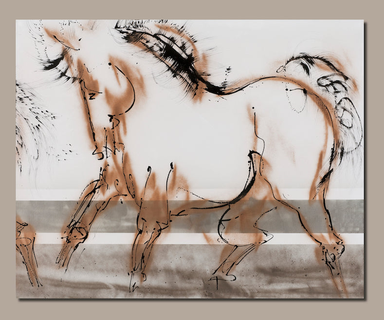 horse painting, bridgehampton, hamptons style, hamptonsequestrians, hampton classic, horseback riding, horse painting, contemporary art, contemporary horse art, equine arts, equine painting, minimalist horse art, ink painting, ink horse painting, large scale art