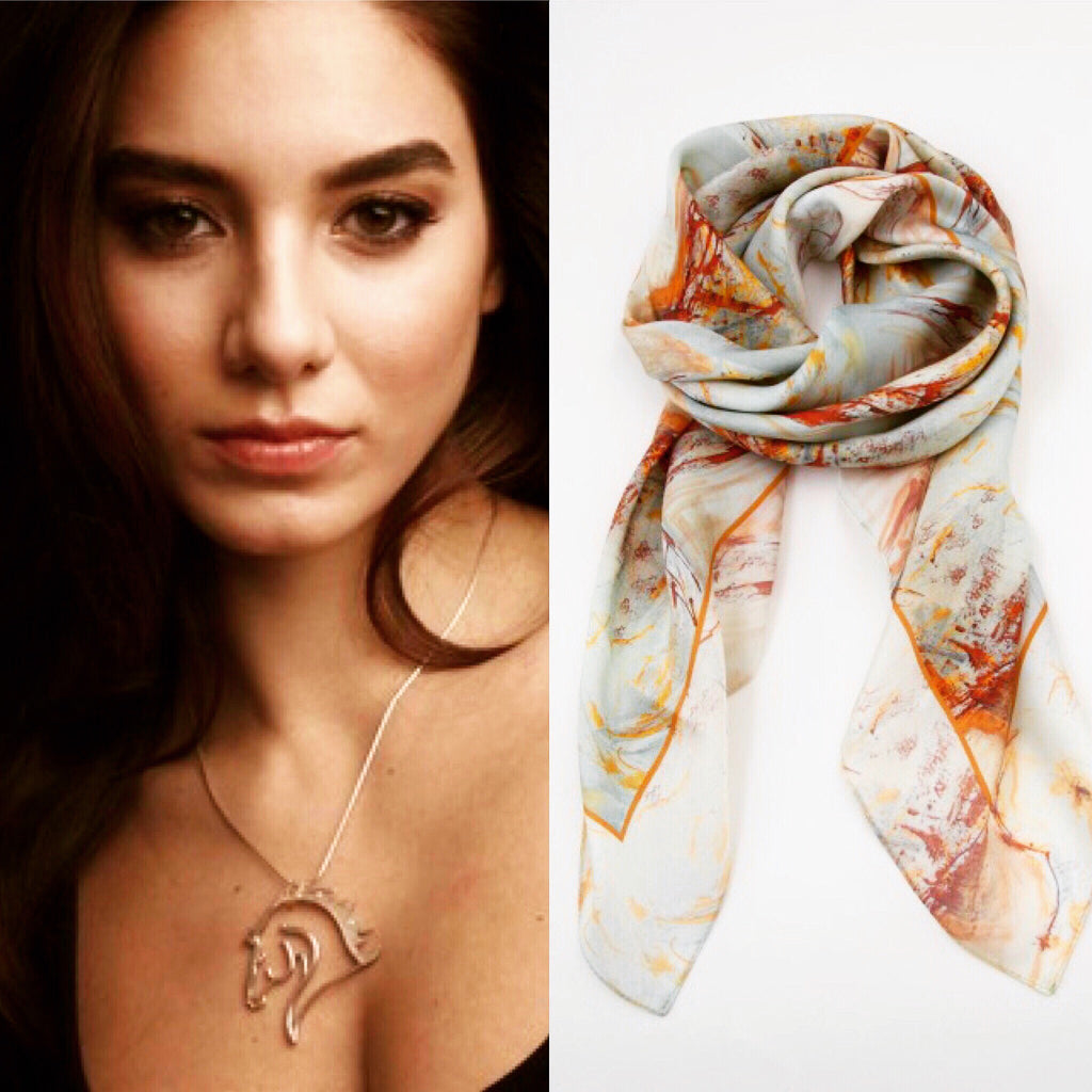 Equestrian Silk Scarf - Dream Catcher