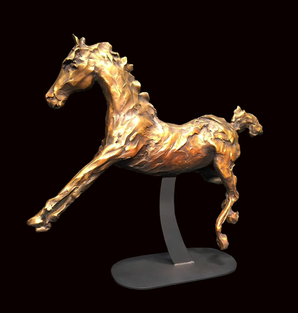 bronze, bronzed sculpture, horse sculpture, equestrian sculpture, original art, limited edition, modern sculpture, contemporary art, a sculpture perfect for any place in your home or office, horses are good feng shui