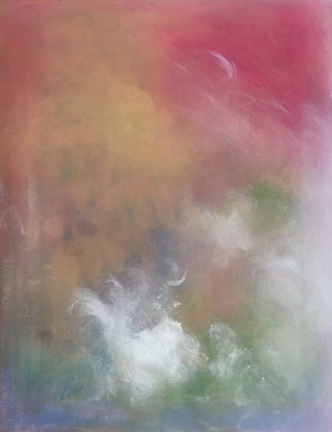 red, clouds, abstract art, abstract painting, paintings for sale, small scale art, artwork on canvas, multi colored art, joyful art, dreamy art, meditative, mood art, rainbow colors, clouds, sky