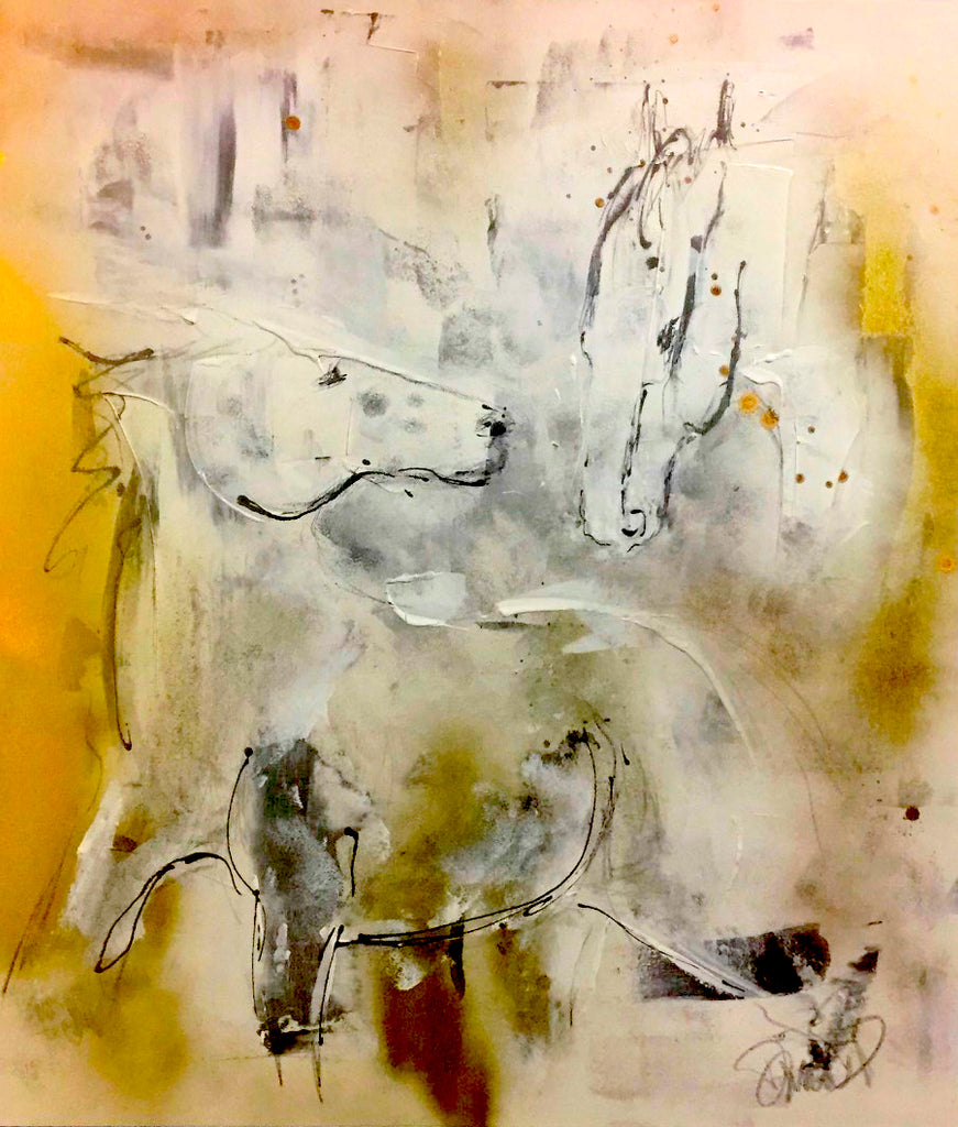 mixed media horse art, abstract horse painting, unique original art, textured art, wall decor, epstein chic, ancient horses, eohippus, cave art, cave wall art, cave style, acrylics art, modern style horse, contemporary art