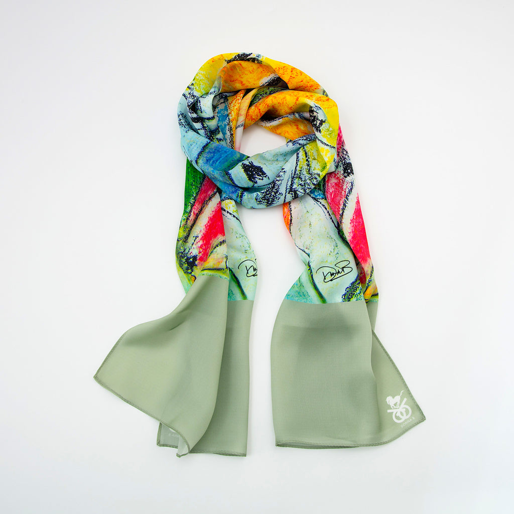 Equestrian Silk Scarf - Tower of Horses