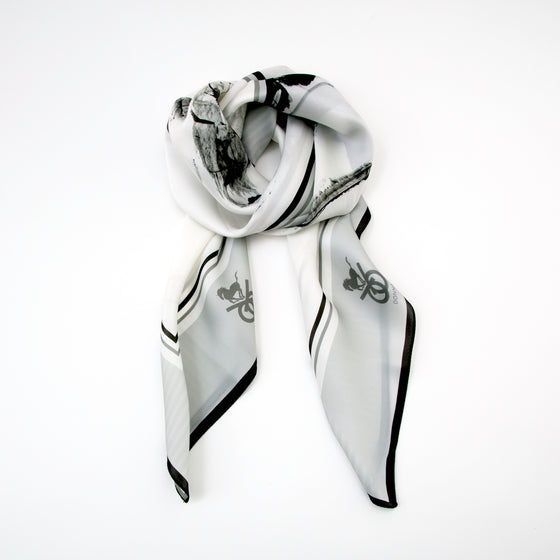 Equestrian Silk Scarf - Checkmate