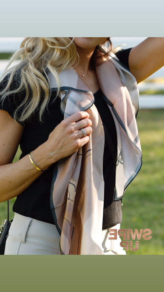 Equestrian Silk Scarf - Greeting