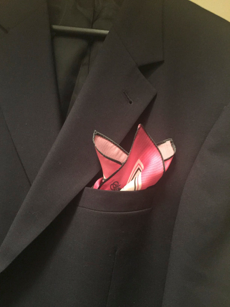Pink Power Pocket Square - or Neckerchief!
