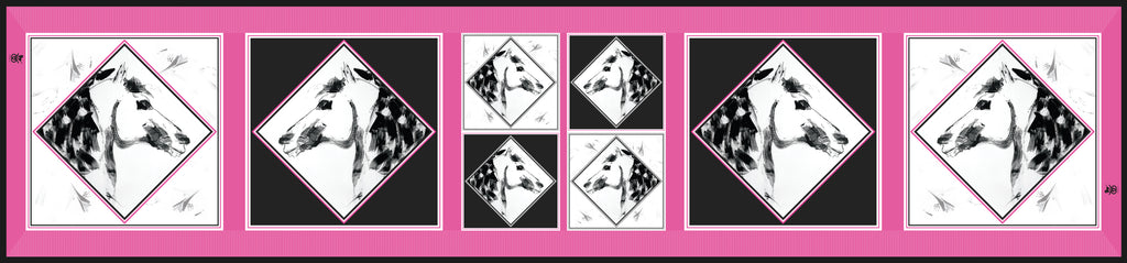 Checkmate Pink & Black Equestrian Silk Scarf
