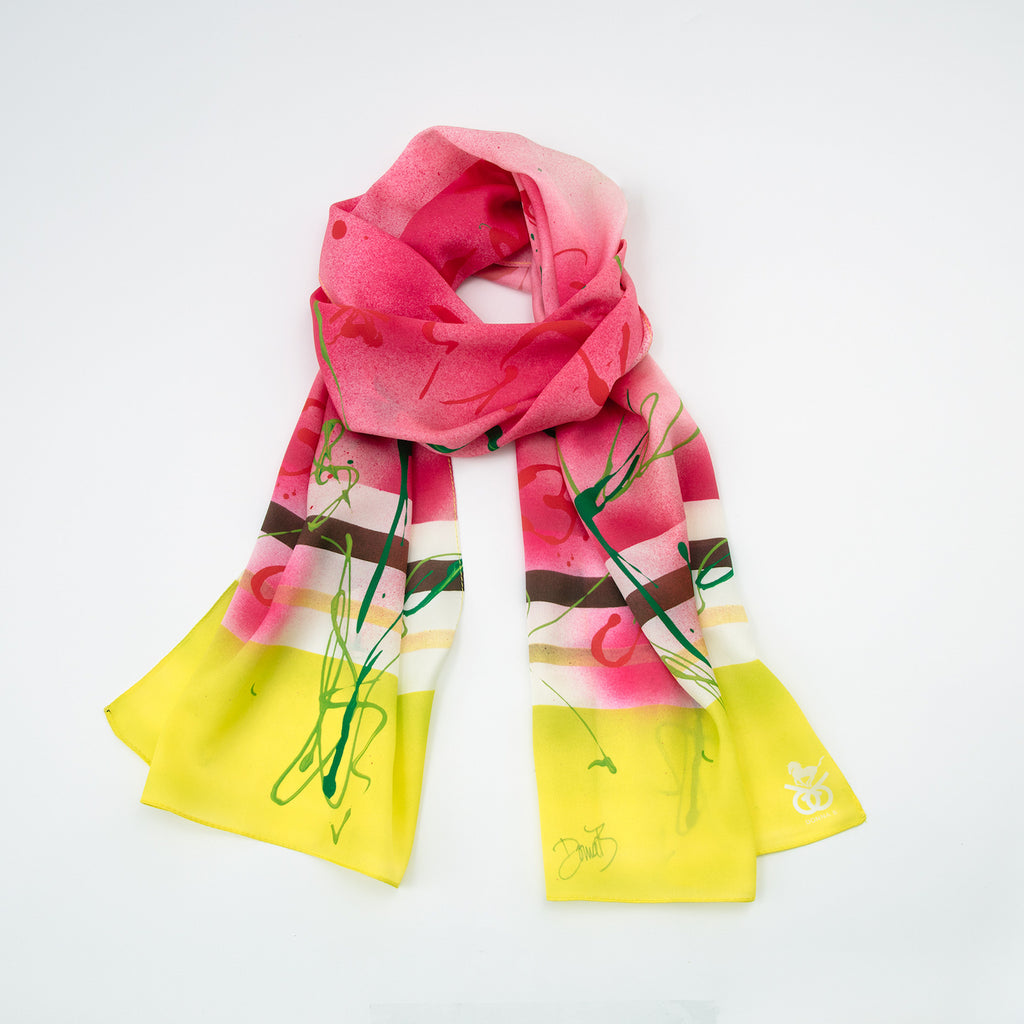 Equestrian Silk Scarf ~ Run for the Roses