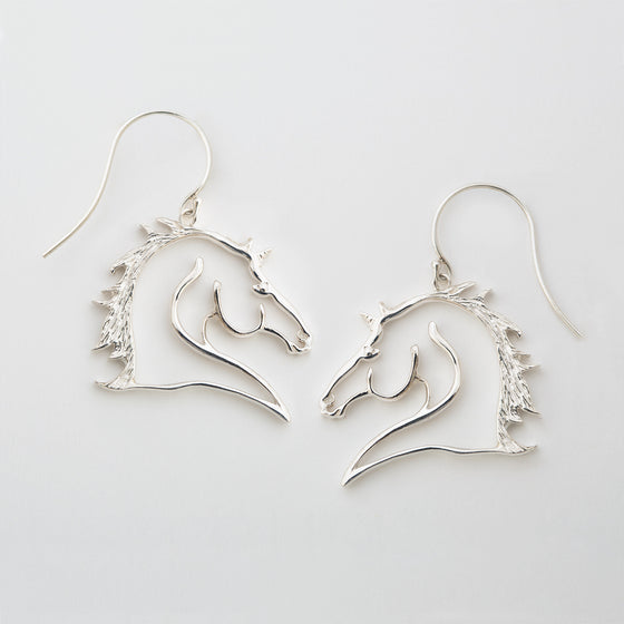 Silver Charm Equestrian Earrings