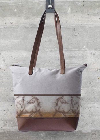 Two Horses Statement Bag