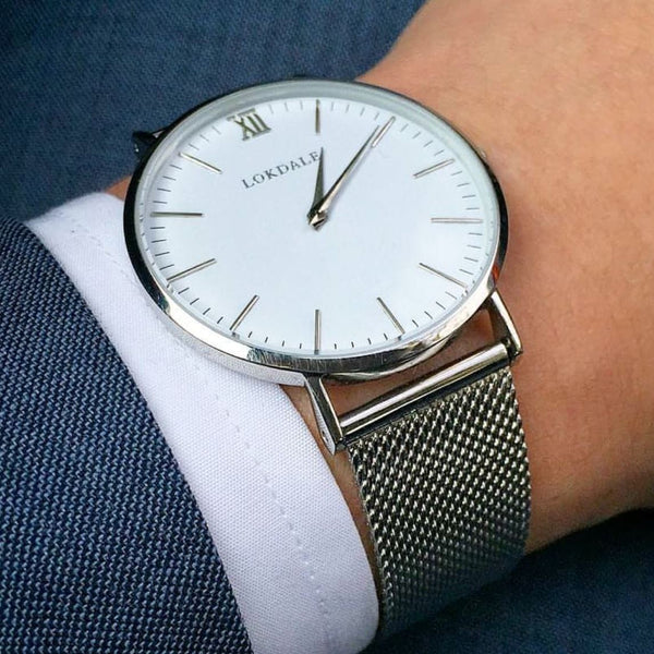 Avocet Silver/White 316L Stainless Steel - 40MM ORIGINS LOKDALE LTD