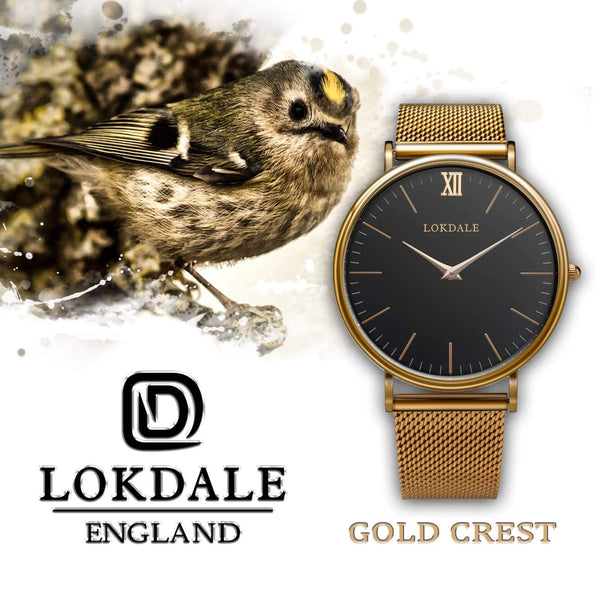 Goldcrest Mens Gold 316L Stainless Steel Watch - 40MM ORIGINS LOKDALE LTD