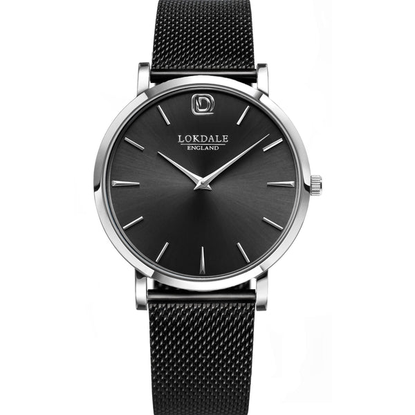 Jackdaw Black Black/Silver 316L Stainless Steel Watch - 40MM DARK SKIES LOKDALE WATCHES