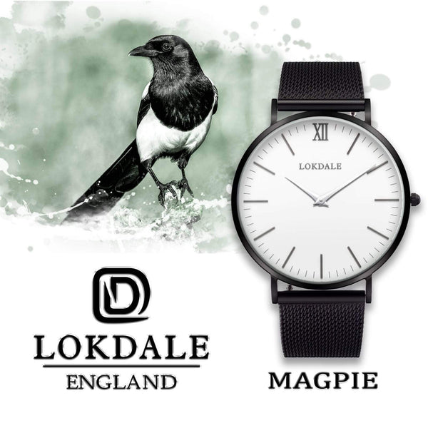 Magpie White/Black 316L Stainless Steel - 40MM ORIGINS LOKDALE LTD