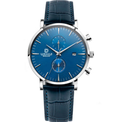 Nuthatch Chrono MC Blue - Silver/Blue 316L Stainless Steel - 42MM LOKDALE LTD