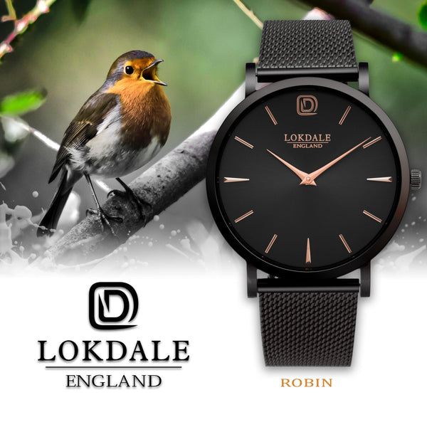 Robin Gunmetal/Rose 316L Stainless Steel - 40MM DARK SKIES LOKDALE LTD