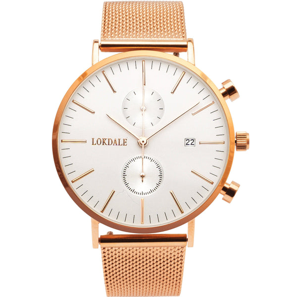ROSE GOLD Chrono - Two Tone 42MM ORIGINS LOKDALE LTD