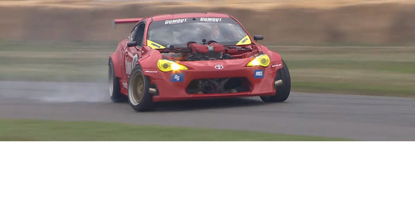 Ryan Tuerck's Ferrari-engined Toyota GT4586 Gets Close to the Edge at Goodwood