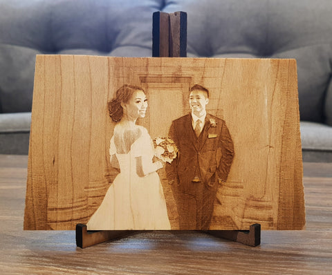 Rustic wedding photo