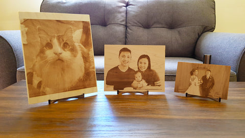Personalized wooden photos