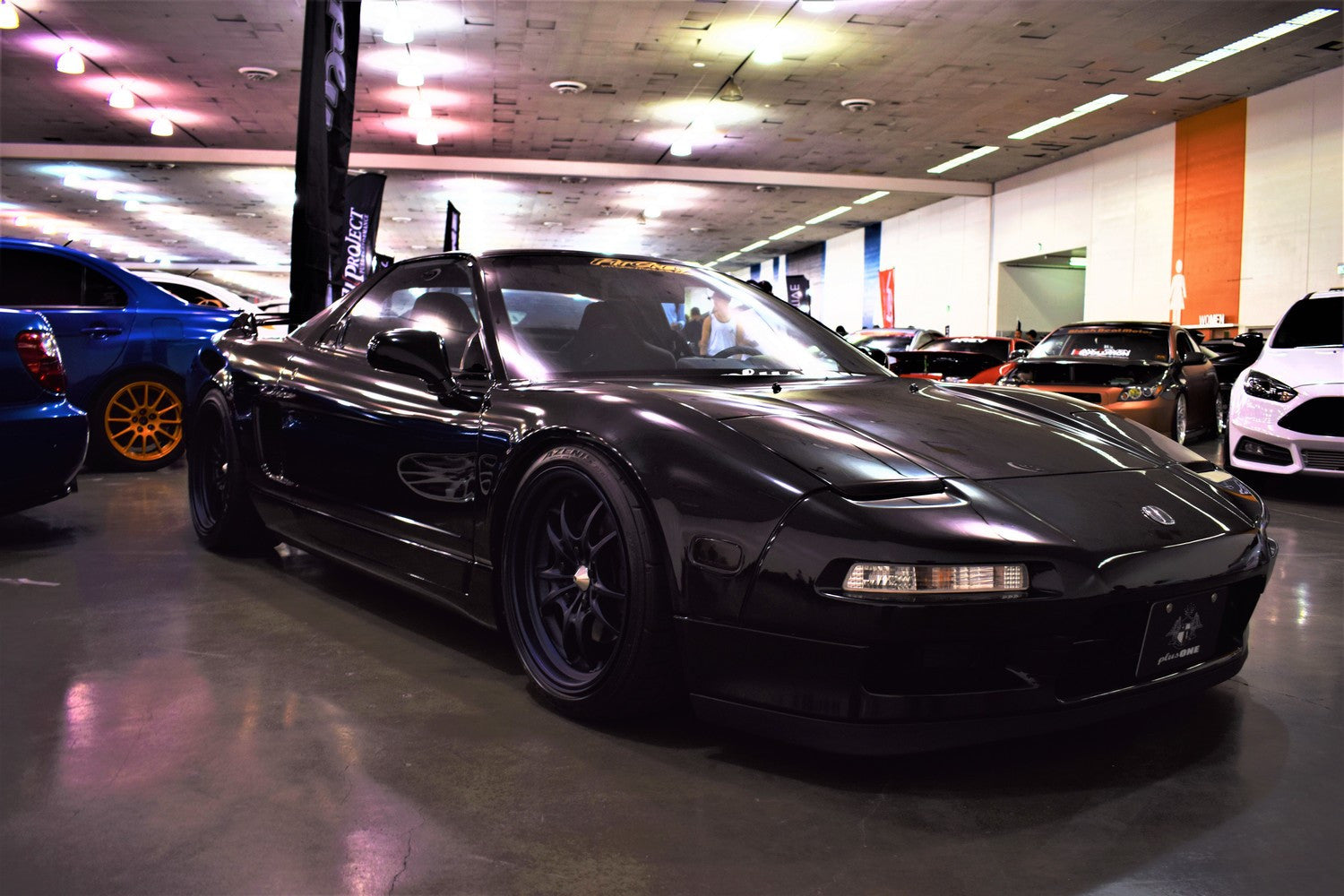 clean black honda nsx