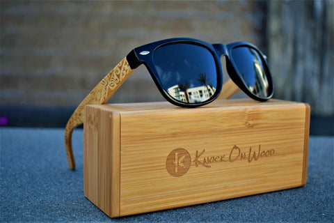 Wooden tribal sunglasses