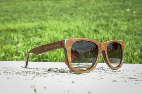 Campfire wood polarized sunglasses