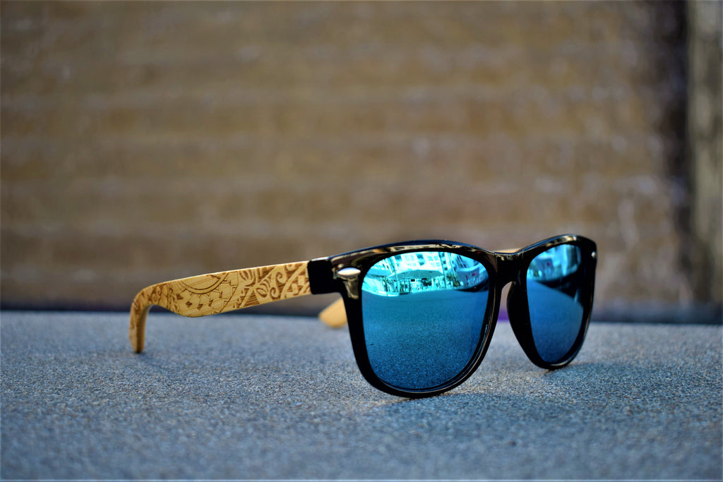 bamboo design sunglasses
