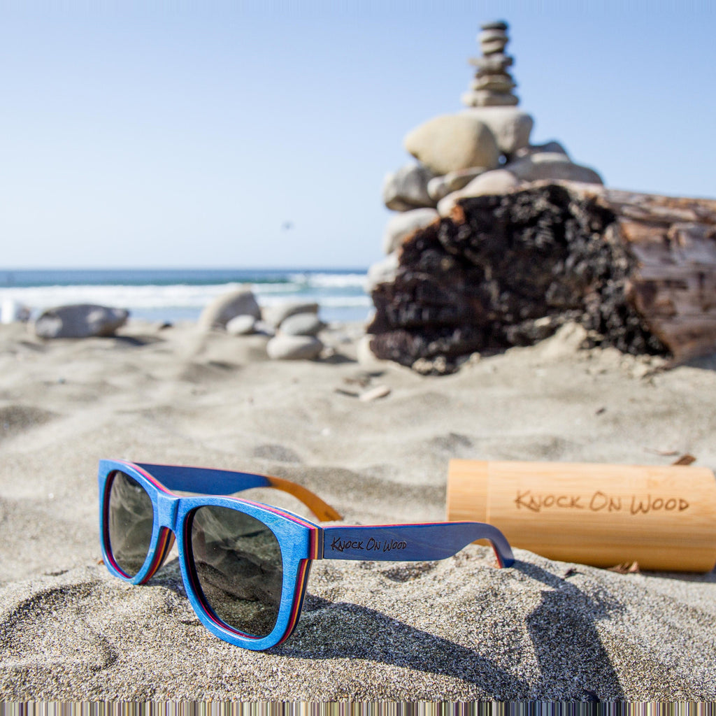 wooden sunglasses with UV protection