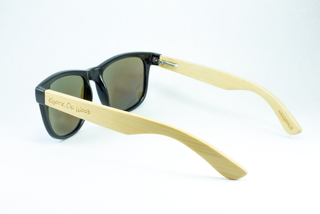 free shipping blue wayfarer wooden sunglasses