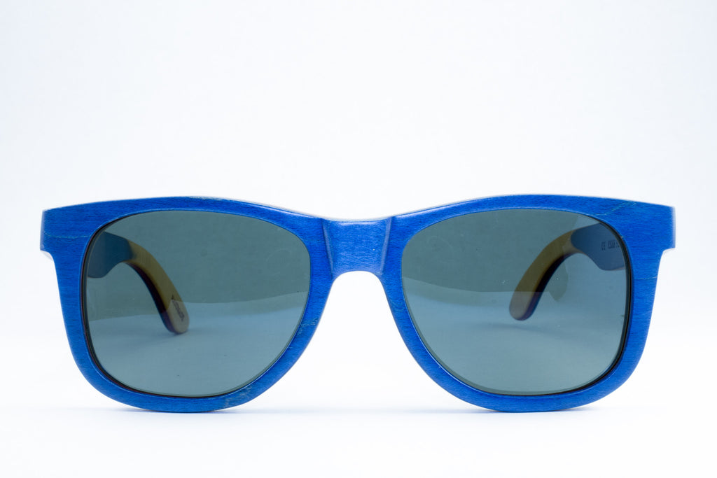 blue bamboo polarized shades