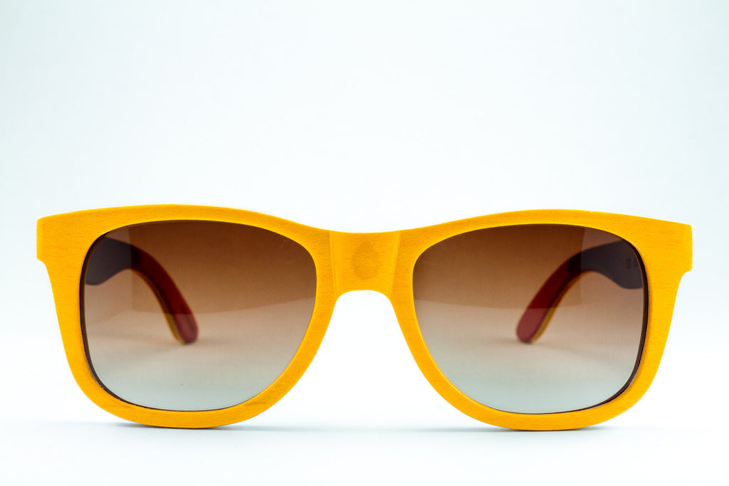 yellow polarized bambu sunglasses