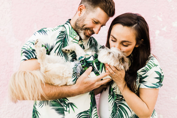 BBQ Shirt Company | Matching Hawaiian Print Shirts for Families Friends and Dogs