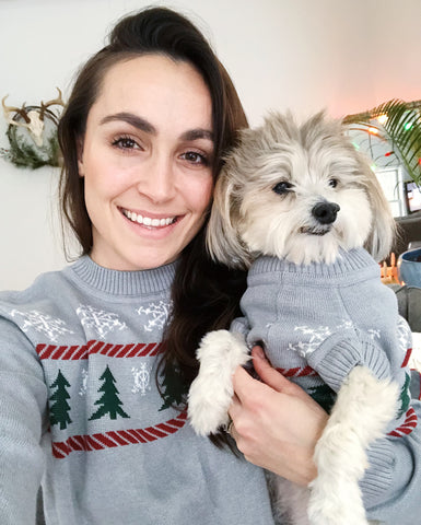 Matching Christmas Holiday Sweaters for Dogs and People by Dog Threads x Squad Style