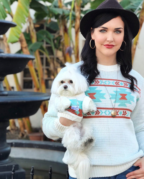 Matching Sweaters for Dogs People and Families