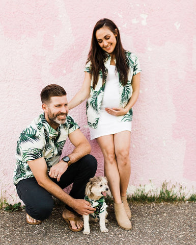 Havana Palms BBQ Shirt - Matching Sizes for Dogs + Humans