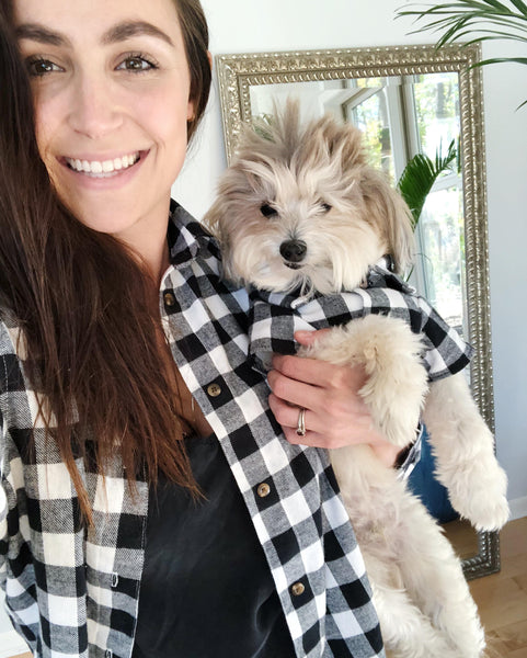 Matching Set - Fireside Flannel | Matching Buffalo Plaid Flannel Shirts for Dogs and People by Dog Threads x Squad Style