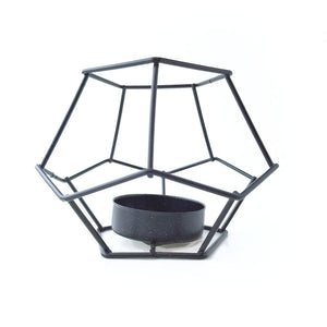 Black Geometric Air Plant Holder