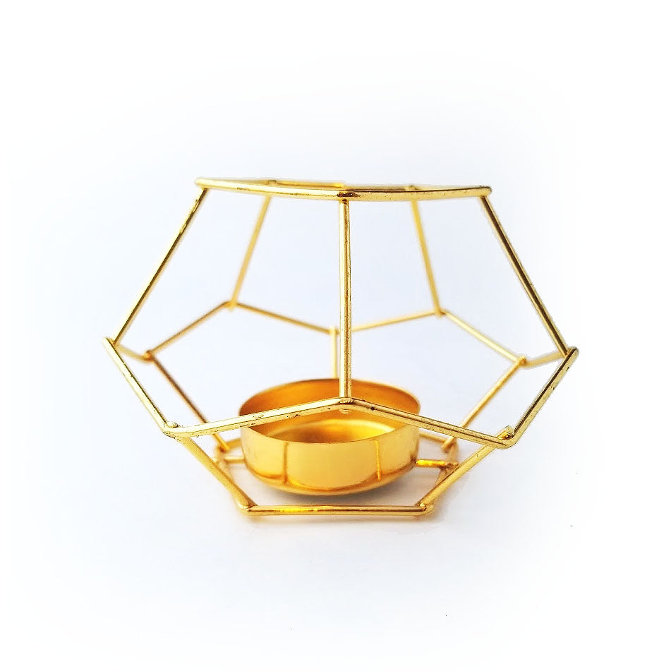 Gold Geometric Air Plant Holder
