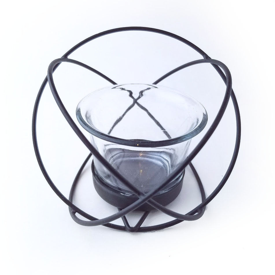 Round Geometric Air Plant Holder