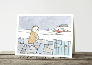 New Barn Owl Christmas Card