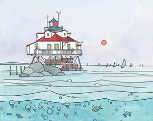 Chesapeake Bay Lighthouse Art