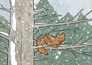 Pine Marten Holiday Animal Card