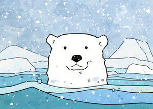 Illustrated Polar Bear Facts for Kids