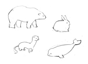Arctic Animal Doodles