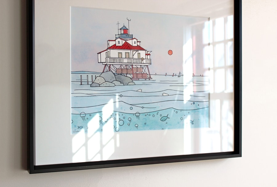 Chesapeake Bay Lighthouse Art Print