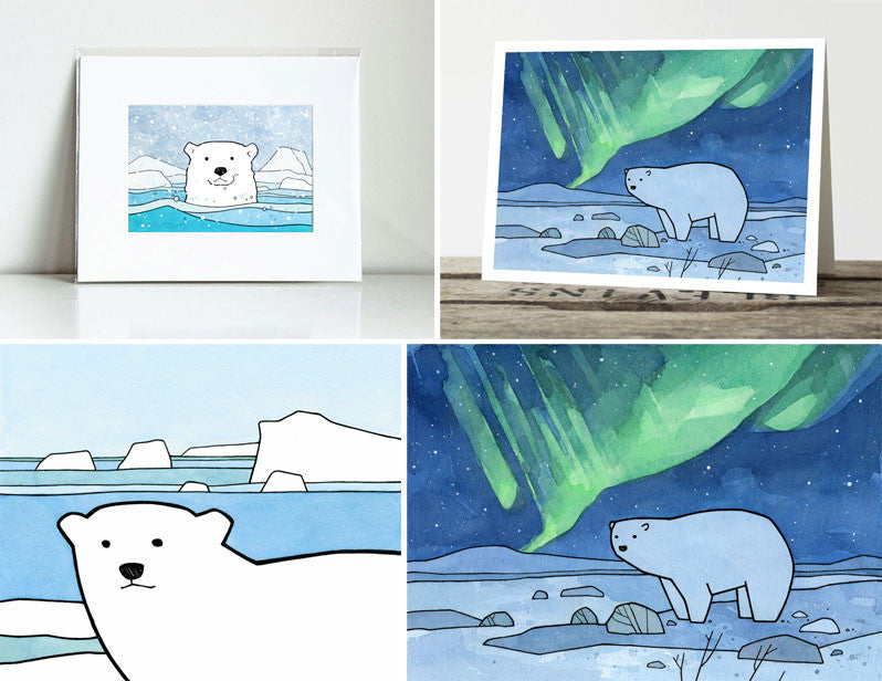 polar bear art prints