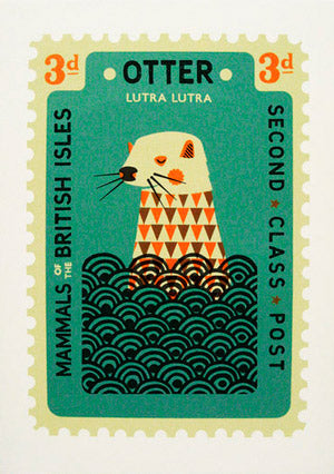 Tom Frost Otter Stamp Screenprint